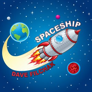 Cover art for the 2020 release of Spaceship by Dave Filchak